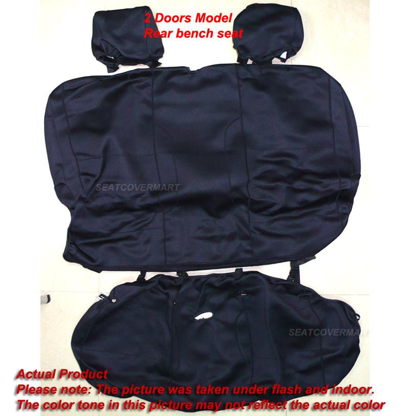 Jeep Wrangler Unlimited JK 2007 10 Neoprene Full Black Seat Cover 2 Door NO2DJK